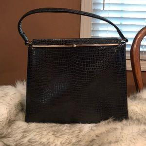 Snakeskin print vintage square purse